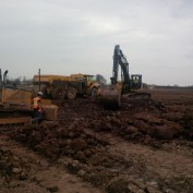 Digging roads at Solar Farm-South Cayuga