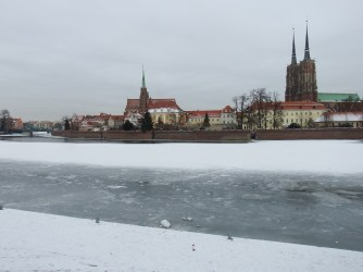The frozen Oder