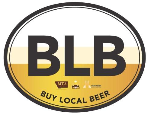 BLB oval car sticker (2)