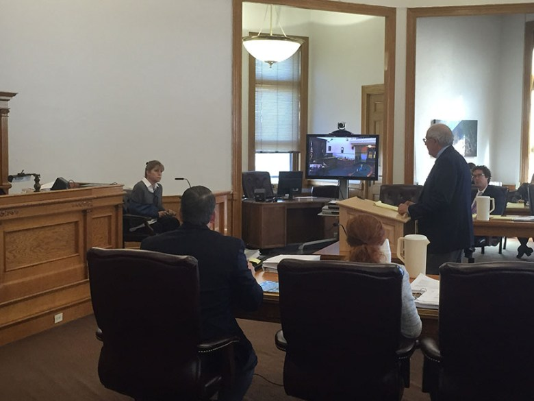 Former Commissioner of Political Practices investigator Julie Steab responds to cross examination from state attorney Gene Jarussi.