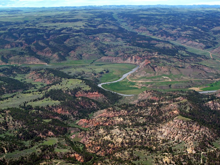The Otter Creek Valley in southeastern Montana is the site of a proposed coal mine and coal train. Photo by Jane Pargiter, EcoFlight.