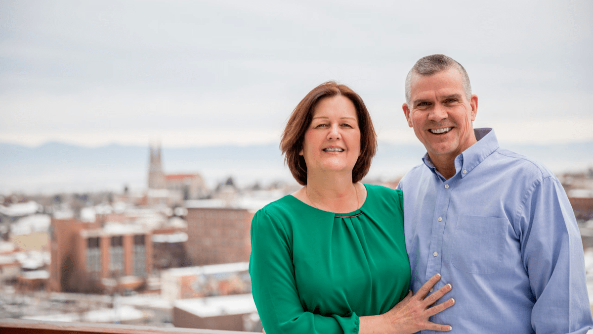 Matt Rosendale, right, with his wife, Jean.