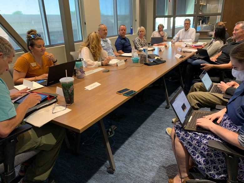 Members of Gov. Greg Gianforte's 8th Judicial District Advisory Council meet on Wednesday, June 30, 2021 to discuss candidates for a vacant judgeship in Cascade County.