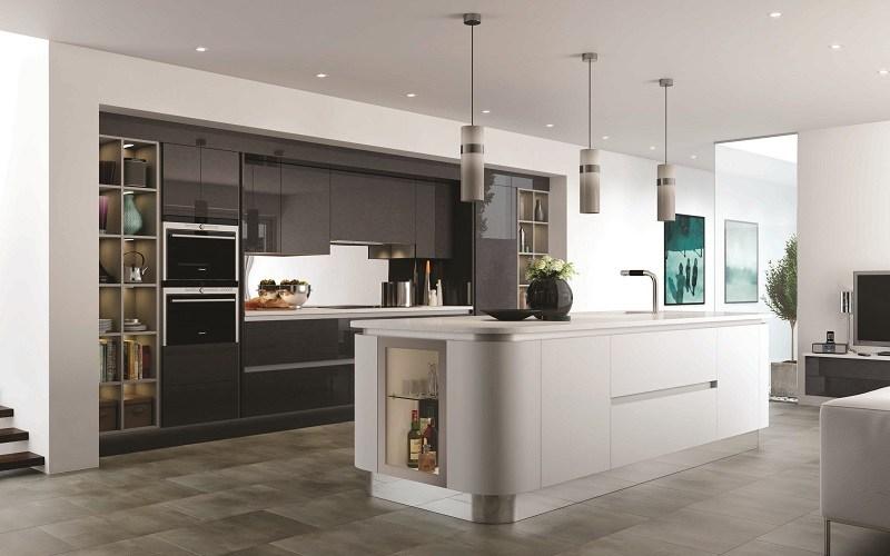 curved kitchen, mereway, futura
