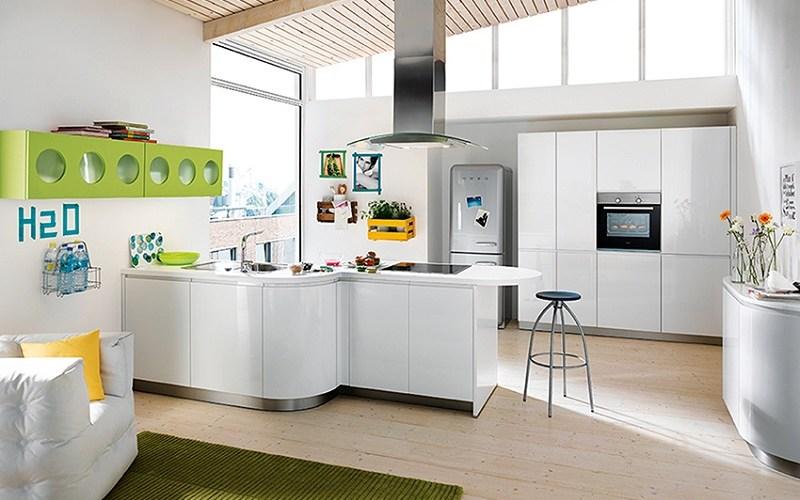curved kitchen, schuller kitchens, alea
