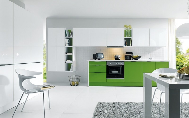 modern kitchen, schuller kitchens, glasline glanz
