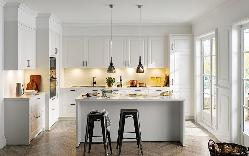 white kitchen, schuller kitchens, riva