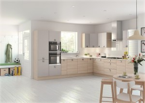 wood kitchen, mereway, lastra light ash