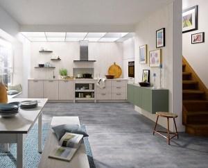 luxury fitted kitchens hertfordshire, schuller wood effect kitchen