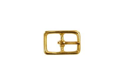 brass buckle, center bar buckle, 121 buckle