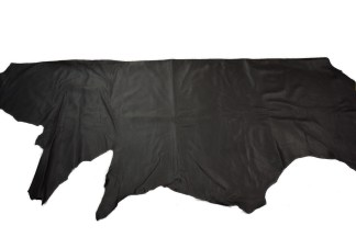 black leather, pebble grain leather, kampelli