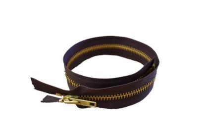 brown zipper, brass zipper, YKK zipper