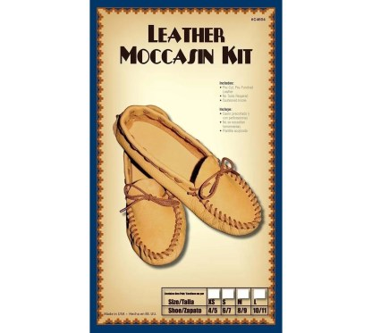 mocs, moccasins, moccasins kit, leather kit, realeather, silver creek