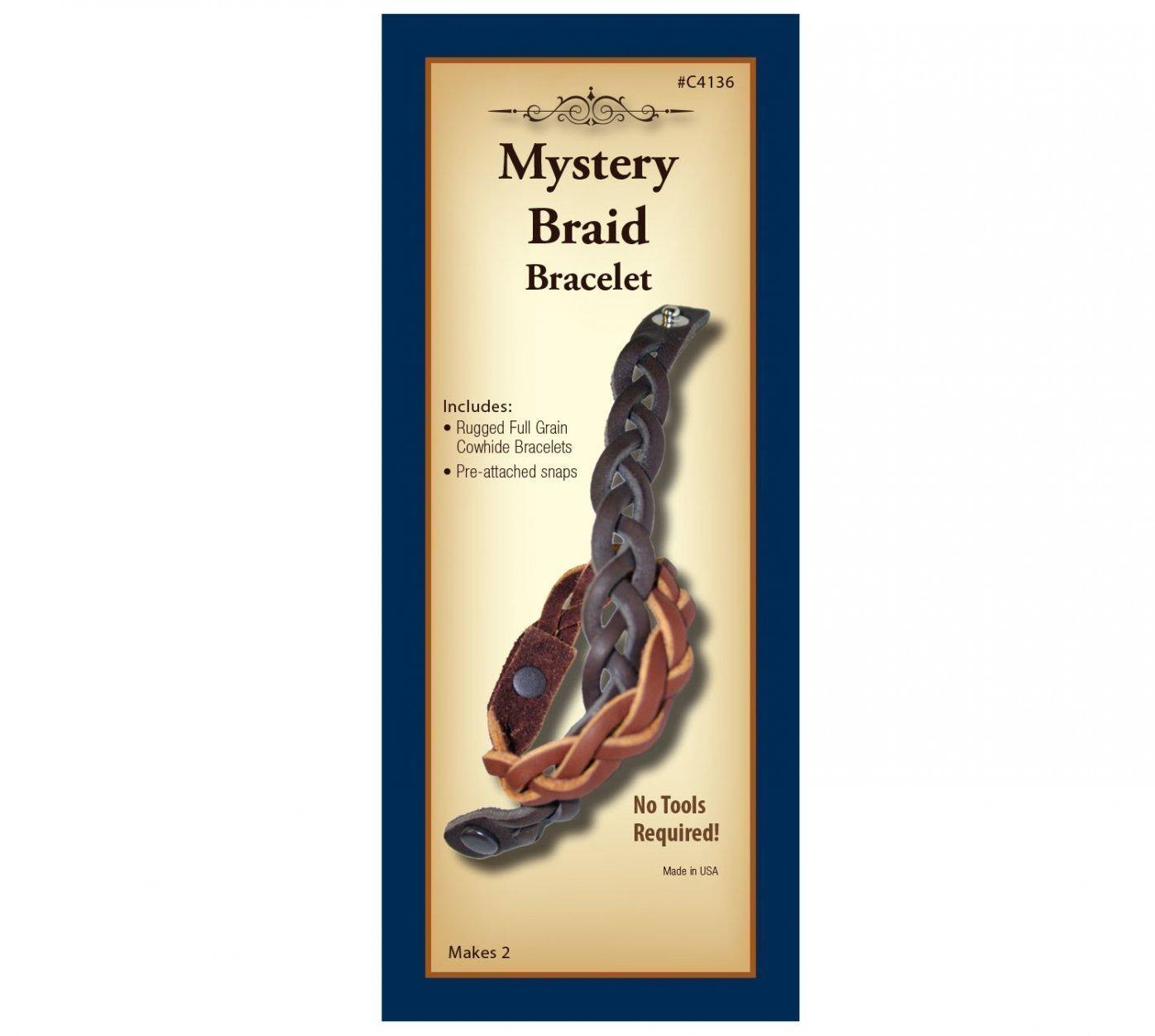 Mystery Braid Bracelet C4136 02 Montana Leather Company