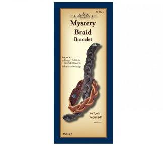 braiding, leather bracelet, realeather, silver creek, leather kit