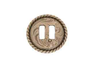 Slotted Antique Rope Edge Concho