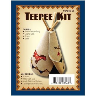 teepee leather, leather kit, Realeather, Silver Creek