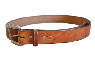 leather belt, stained belt, montana made