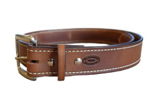 leather belt, stitched belt