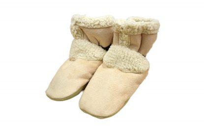 mini mocs moccasins, toester moccasins, tan moccasins
