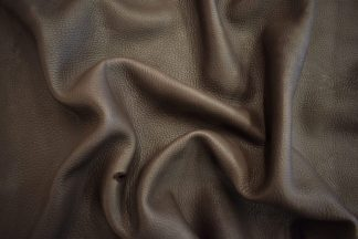 dark brown deer leather, chocolate deerskin