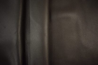 Black bullhide leather