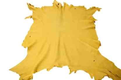 Gold moose leather hide
