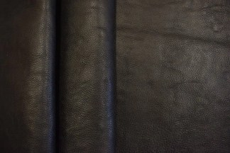 Black Milled Hermann Oak Leather