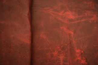Red Pull Up Elk Leather