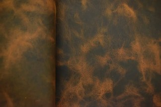 Big Sky Bison Leather - Tan Close