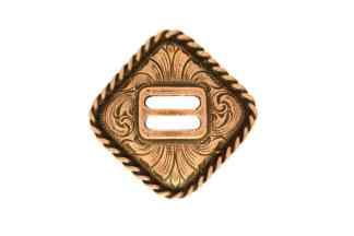 Diamond concho, slotted concho, copper concho