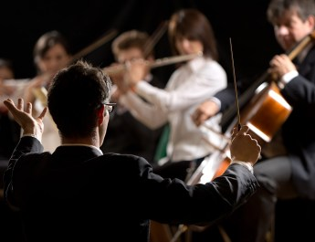 Conductor Directing Symphony