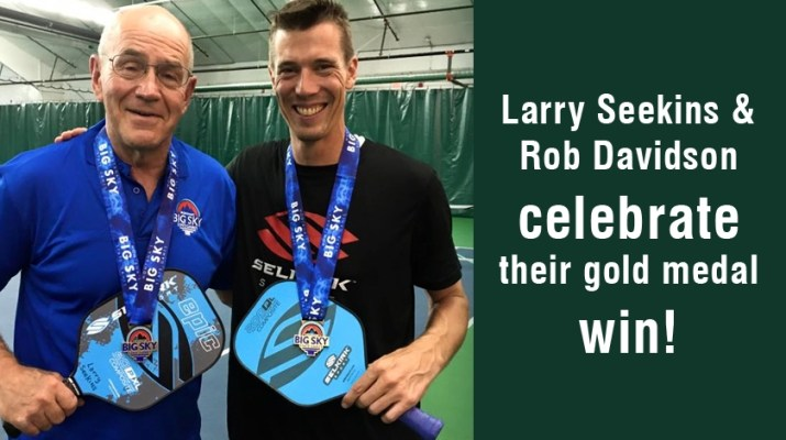 Larry Seekins and Rob Davidson celebrate their gold medal win.