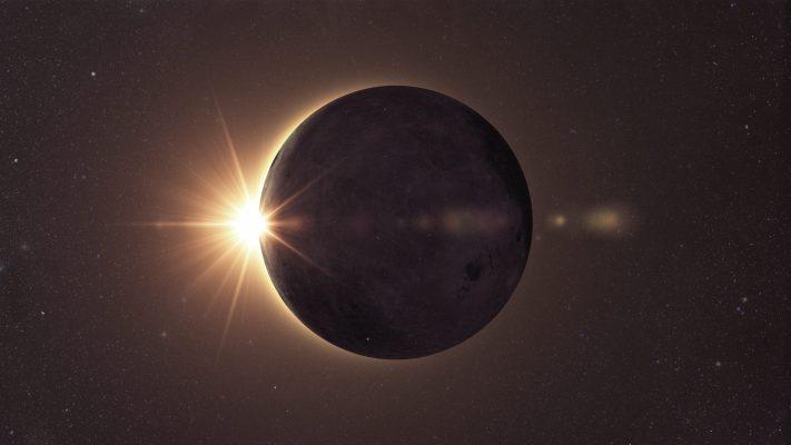 Science concept, solar eclipse
