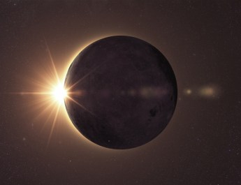 Science concept, solar eclipse