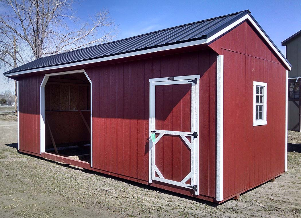 Quaker Livestock Shelter with optional tack room