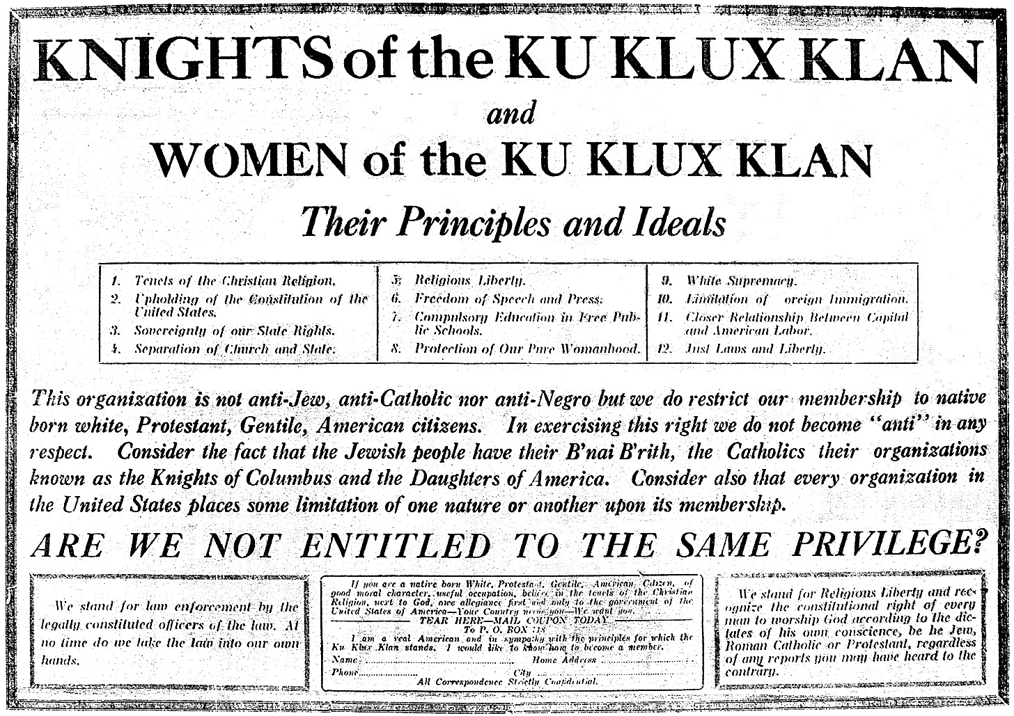 Montana Women Of The Ku Klux Klan