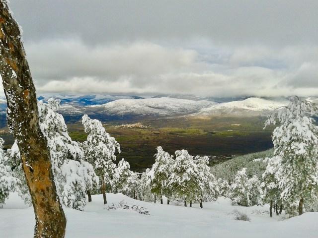 Sierra del Rincón desde el Camino de los Lonchares.