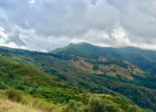 Pico Formigueiros desde la carretera de subida al Puerto de Visuña.