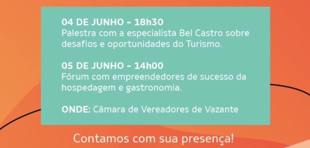 Encontro sobre Desenvolvimento do Turismo de Vazante será realizado na próxima semana