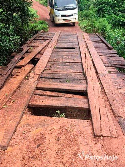 Más condições de estradas na zona rural de Patos de Minas já deixam alunos sem escola