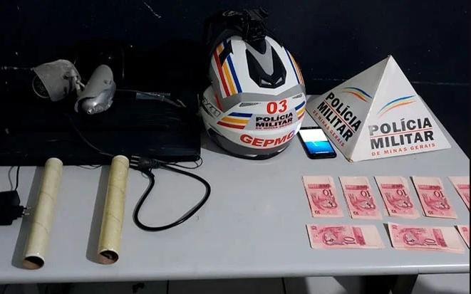 Policiais do GEPMOR encontram dezenas de cédulas falsas em casa no Residencial Quebec em Patos de Minas
