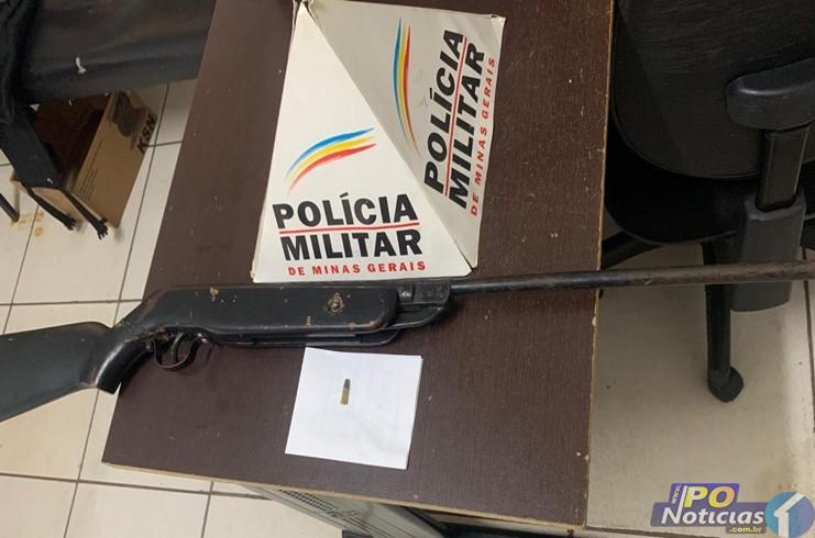 Após denúncia, Polícia Militar apreende armas de fogo em Presidente Olegário