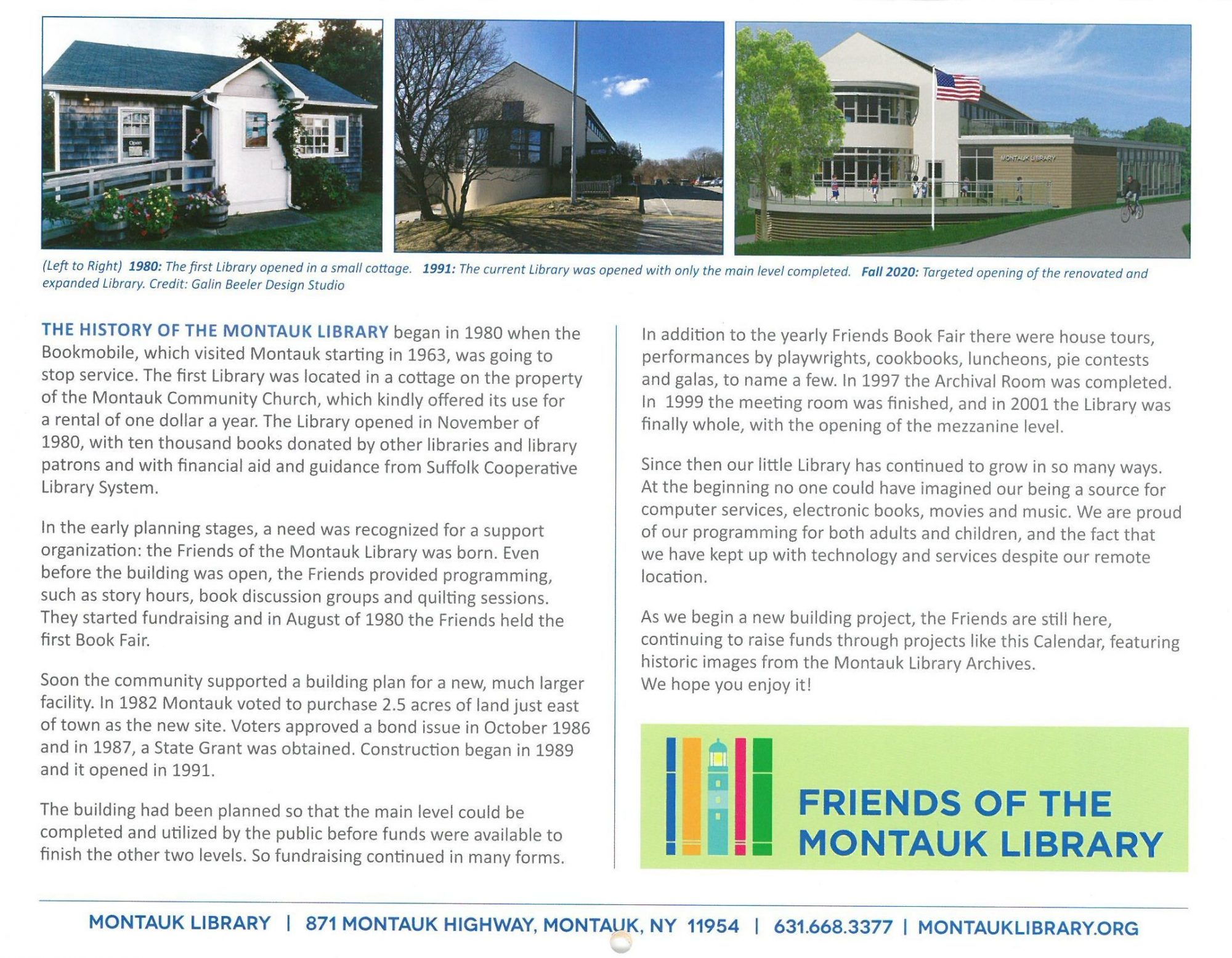 Friends Calendars are Here! - Montauk Library