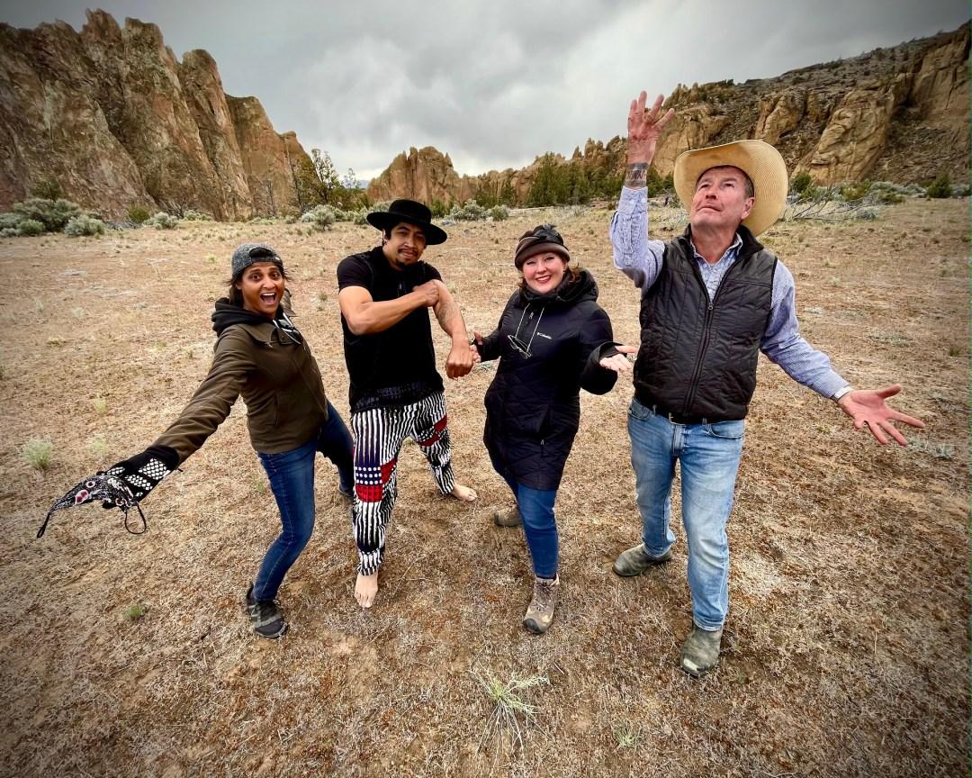 Shilpa Sunthankar, Malik Delgado, Tara Johnson-Medinger, and Gary Nolton during filming of A Day in Color.
