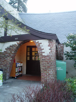 Entryway of Montclair's storybook library