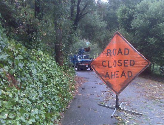 Merriewood - Road Closed