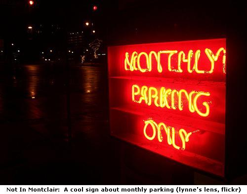 Monthly Parking Only