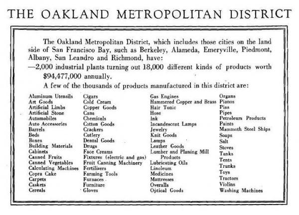Oakland Metro - Products