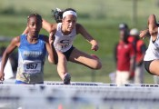 Christiansburg freshman Kendall Lewis qualifed for the 100 m hurdle final, and placed 8th overall at the 3A state championhip meet.